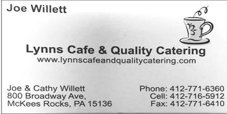 Lynn's Cafe & Quality Catering, Inc. is a Gold Sponsor for the Moon Area Instrumental Music Program